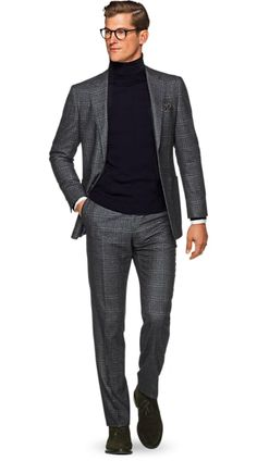 Suitsupply Suits: Soft-shoulders, great construction with a slim fit—our tailored, washed and formal suits are ideal for any situation. New Mens Fashion, Mens Fashion Suits, Mens Suits, Stylish Men, Men Casual, Business Dress, Mode Costume, Herren Outfit, Gentleman Style