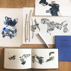 travaux en cours, inspiration peintures et dessins, olivier umecker