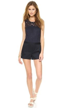 Never enough rompers. Love the lace on this @Club Monaco style #shopbopsale