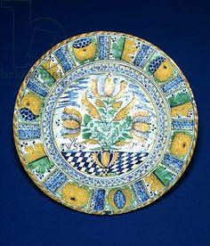 Tulip Charger, 1661 (tin-glazed earthenware)