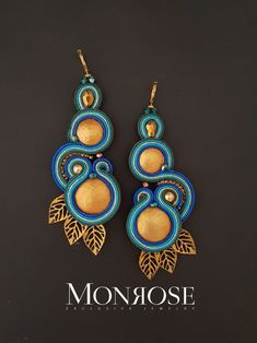 Bead Jewellery, Beaded Jewelry, Boho Jewelry, Fashion Jewelry, Bead Embroidery Jewelry, Beaded Embroidery, Soutache Necklace, Polymer Clay Charms, Black Earrings