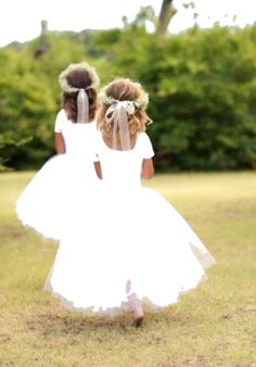 Tutu flower girl dresses<3 just add cute little cowgirl boots and its perfect!!