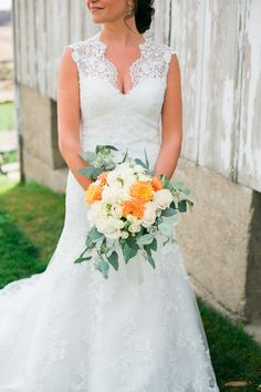 Teal, Orange & Crimson Rustic Fall Wedding at Legacy Hill Farm Teal And Grey Wedding, Orange Wedding Colors, Teal Orange, October Wedding, Fall Wedding, Wedding Ideas, Teal Bouquet, Gray Weddings, Brittany