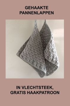 Topflappen Haken Gehaakte pannenlap in weefsteek Crochet Home, Cute Crochet, Beautiful Crochet, Crochet Crafts, Crochet Projects, Knit Crochet, Diy Haken, Crochet Hedgehog, Knitting Patterns