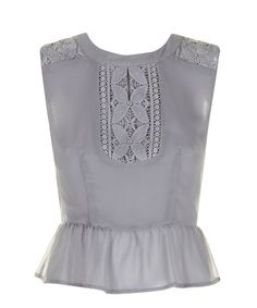Take a look at this Ash Gray Ellis Peplum Top by Darling on #zulily today!