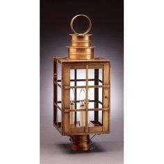 Northeast Lantern Suffolk Chimney Can Top H-Bars 1 Light Lantern Head Finish: Antique Copper, Shade Type: Clear