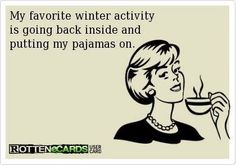 For real. I do NOT like all this winter mess - I will live in a pile of blankets til spring, thank you ;)