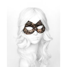 Nude & Black Lace Masquerade Mask - Lace Covered Venetian Style... ($20) ❤ liked on Polyvore featuring costumes, accessories, mask, masquerade, ladies halloween costumes, womens halloween costumes, party halloween costumes, carnival costumes and lady costumes