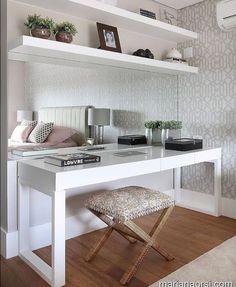 Ideas home office quarto casal pequeno for 2019 Home Office Decor, Room Design, Interior, Home, House Interior, Apartment Decor, Bedroom Decor, Bedroom Desk, Home Interior Design