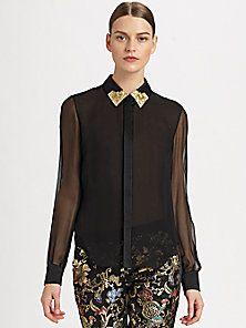 Jason Wu - Embellished Silk Blouse