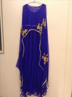Full length cape dress pure chiffon