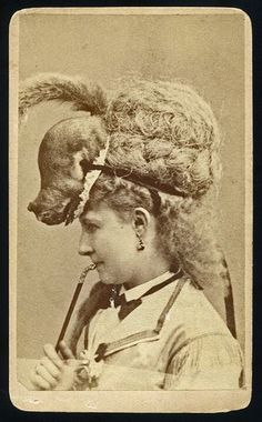 A Lady with a Squirrel on her Head by Jeremiah Gurney American photographer 1812-1886