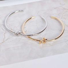 Majolie - Noeud Silver Jonc Bracelet - - 1