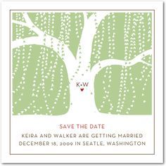 Willow tree Save the Dates