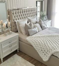 Cozy Home Decorating Ideas for Girls Bedroom – Isabelle Style – Shannon – Elegant Stylish Bedroom, Cozy Bedroom, Home Decor Bedroom, Modern Bedroom, Girls Bedroom, Bedroom Romantic, Mirror Bedroom, Taupe Bedroom, Bedroom 2018