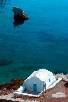 This is the real colour of the sea….Agia Anna , Amorgos , Greece.