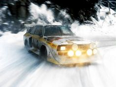 Audi Quattro S1 snow drift