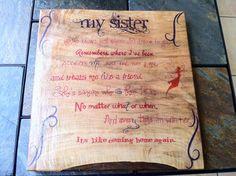 Sister Poem by ThomasTradesNC on Etsy,
