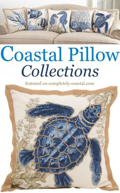 Decorating made easy with matching sets of coastal beach pillows. Home Decor Colors, Colorful Decor, Coastal Style, Coastal Decor, Seashore Decor, Beach House Decor, Beach Themes, Decorative Pillows, Throw Pillows