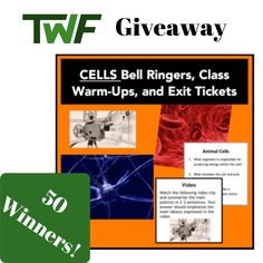 Cells – Bell Ringers, Class Warm-Ups, and Exit Tickets Chemistry Experiments, Science Chemistry, Physical Science, Science Education, Science Notes, Science Notebooks, Science Lessons, Education Middle School, Middle School Teachers