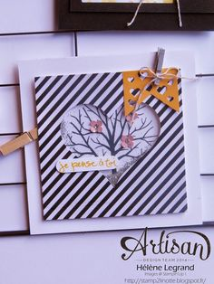 Stamp 2 Linnet: Pell mell for your cards - Stampin'Up! Artisan Blog Hop - March # 1