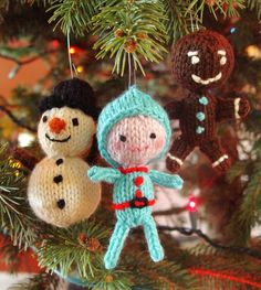 Merry Knitted Toy Trio Pattern PDF by Yarnigans on Etsy
