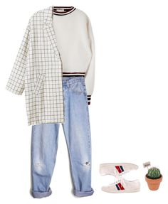 """""""#160"""" by its-conni-sponge ❤ liked on Polyvore featuring moda, Levi's, Monki, Yves Saint Laurent, white, jeans, coat y nikes"""