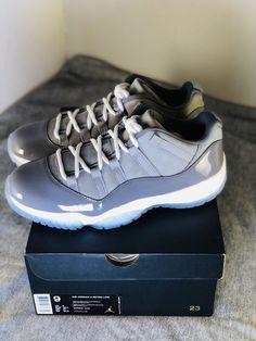 c270ec8144b Nike Air Jordan Retro XI 11 Low COOL GREY White Size 9 (528895-003