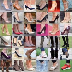 WEBSTA @ katemidleton - Kate's shoe closet  What are your favorites? Heels, wedges, flats, boots or sneakers?