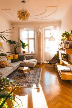 Cosy Hearth - Home - Cosy Hearth - Boho Living Room, Home And Living, Living Spaces, Living Room Decor Yellow, Vintage Modern Living Room, Retro Living Rooms, Bedroom Yellow, Yellow Home Decor, Colourful Living Room