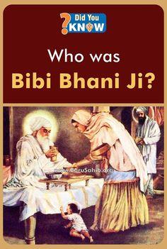#DidYouKnow Who was Bibi Bhani Ji? Bibi Bhani Ji, Daughter of Guru Amar Das Ji, Wife of Guru Ram Das Ji, Mother of Guru Arjan Dev Ji, and Grandmother of Guru Hargobind Sahib Ji Share and Spread for others to know !