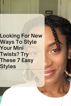 If you're already have mini twists but looking for ways to style them, these videos will be helpful. Cute Natural Hairstyles, Protective Hairstyles For Natural Hair, Black Girls Hairstyles, Prom Hairstyles, Long Natural Hair, Natural Hair Styles For Black Women, Mini Twists, Natural Hair Tutorials, Twist Styles