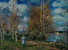 Alfred Sisley  The Small Meadows in Spring 1880. oil on canvas