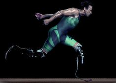 One of my Olympic / Paralympic heroes, Oscar Pistorius. This outstanding image really shows his strength and streamlining!