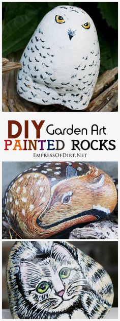 How To Hand Paint Garden Art Rocks And Stones