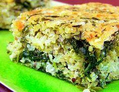 Pastel de quinoa y espinacas | Reto VIVRI®