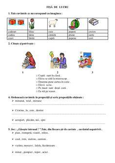 6654510 fise-limba-romana-clasa-i Math For Kids, 4 Kids, Homework Sheet, School Lessons, Homeschool, Parenting, Romans, Study, Education