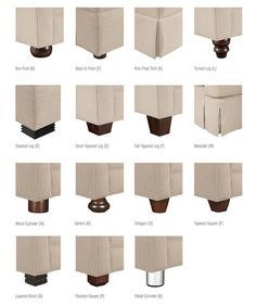 AND LEG STYLES All Drexel Heritage upholstery base and leg styles are shown below. Interior Design Tools, Design Furniture, Furniture Styles, Home Furniture, Interior Decorating, Design Basics, Upholstered Furniture, Furniture Inspiration, Slipcovers