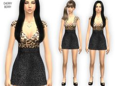 Think I'm in love dress by CherryBerrySim at TSR via Sims 4 Updates