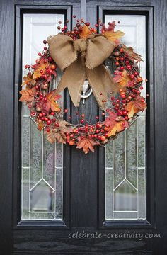 autumn+door+decorations | celebrate CREATIVITY in all its forms: FALL FRONT DOOR DECOR