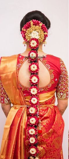 30 Pretty Sheer Back Neck Blouse Designs - Wedding Saree Blouse Designs, Pattu Saree Blouse Designs, Fancy Blouse Designs, Saree Wedding, Bridal Hairstyle Indian Wedding, Bridal Hairdo, Indian Bridal Hairstyles, Wedding Hairstyles, Sarees
