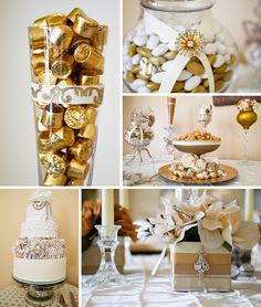 Gold galore! The bride and planner were able to find all sorts of candies to stay in line with the theme of goldddd