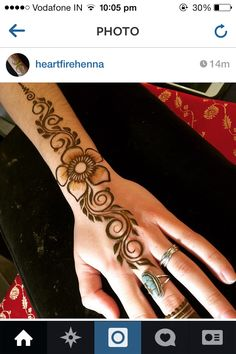 Henna unique Henna Designs Easy, Beautiful Henna Designs, Arabic Mehndi Designs, Henna Tattoo Designs, Mehandi Designs, Henna Tattoos, Mehandi Henna, Hand Mehndi, Mehendi