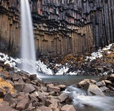 Svartifoss is a waterfall in Skaftafell National Park in Iceland