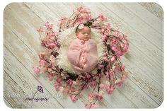 Newborn Baby Photography, Newborn Photography, Baby as Art, Newborn in flower wreath, Newborn Baby Girl Photography, Newborn in Flowers Photography, Newborn Photography, Newborn Photographer Victoria BC
