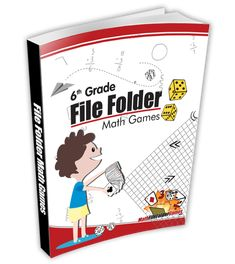 """Grade File Folder Math Games """"These games have completely transformed my classroom. The kids love them. They are easily prepared and they allow students to practice concepts in a fun, eng… Fun Math Activities, Math Games For Kids, Math Resources, Math Stations, Math Centers, 6th Grade Math Games, Math Class, Maths, Math Folders"""