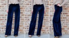 EVERYDAY SEW: ΒΕΛΟΥΔΙΝΟ ΠΑΝΤΕΛΟΝΙ Pants Tutorial, Velvet Pants, Tutorials, Suits, Sewing, Diy, Fashion, Build Your Own, Moda