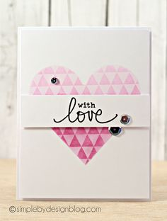 Card by Joy Taylor using Darkroom Door Triangles Background Stamp and Simple Sayings Rubber Stamp Set.