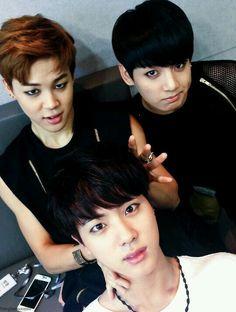 :3 #Jimin #Jungkook #Jin