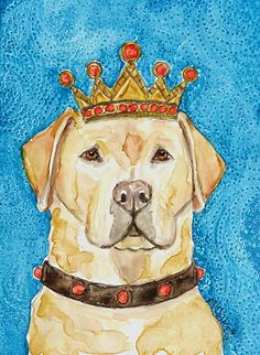 King Lab Dog Painting by Melinda Dalke 20% donation to Muttville Senior Dog Rescue